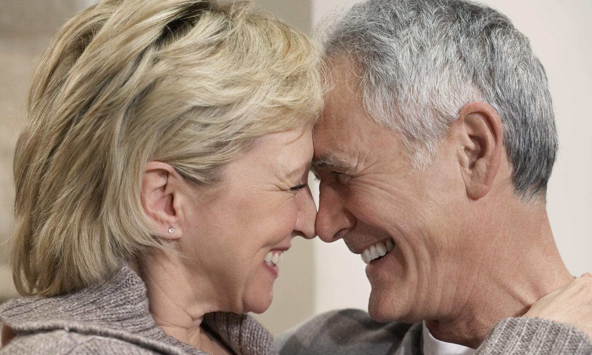 glückliches Paar ü50