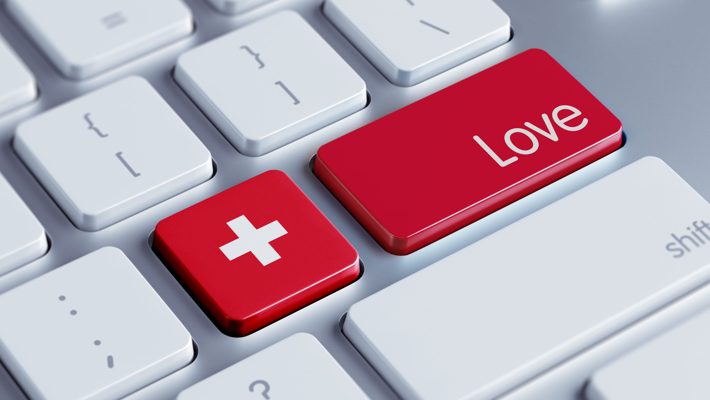 Tastatur mit schweizer Flagge