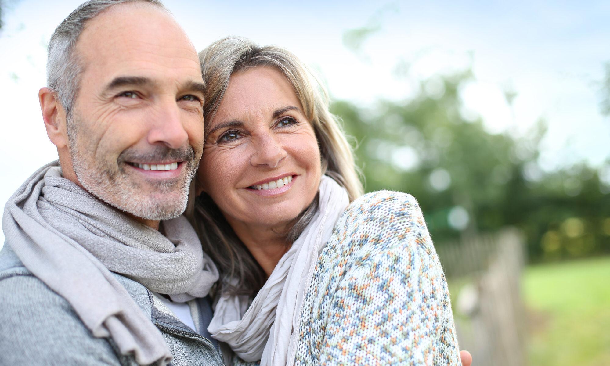 hübsches älteres Paar